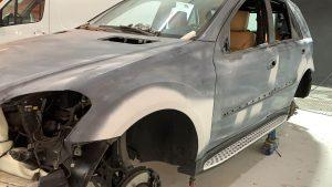 Mercedes ML 300 CDI cambio color gris a nardo grey